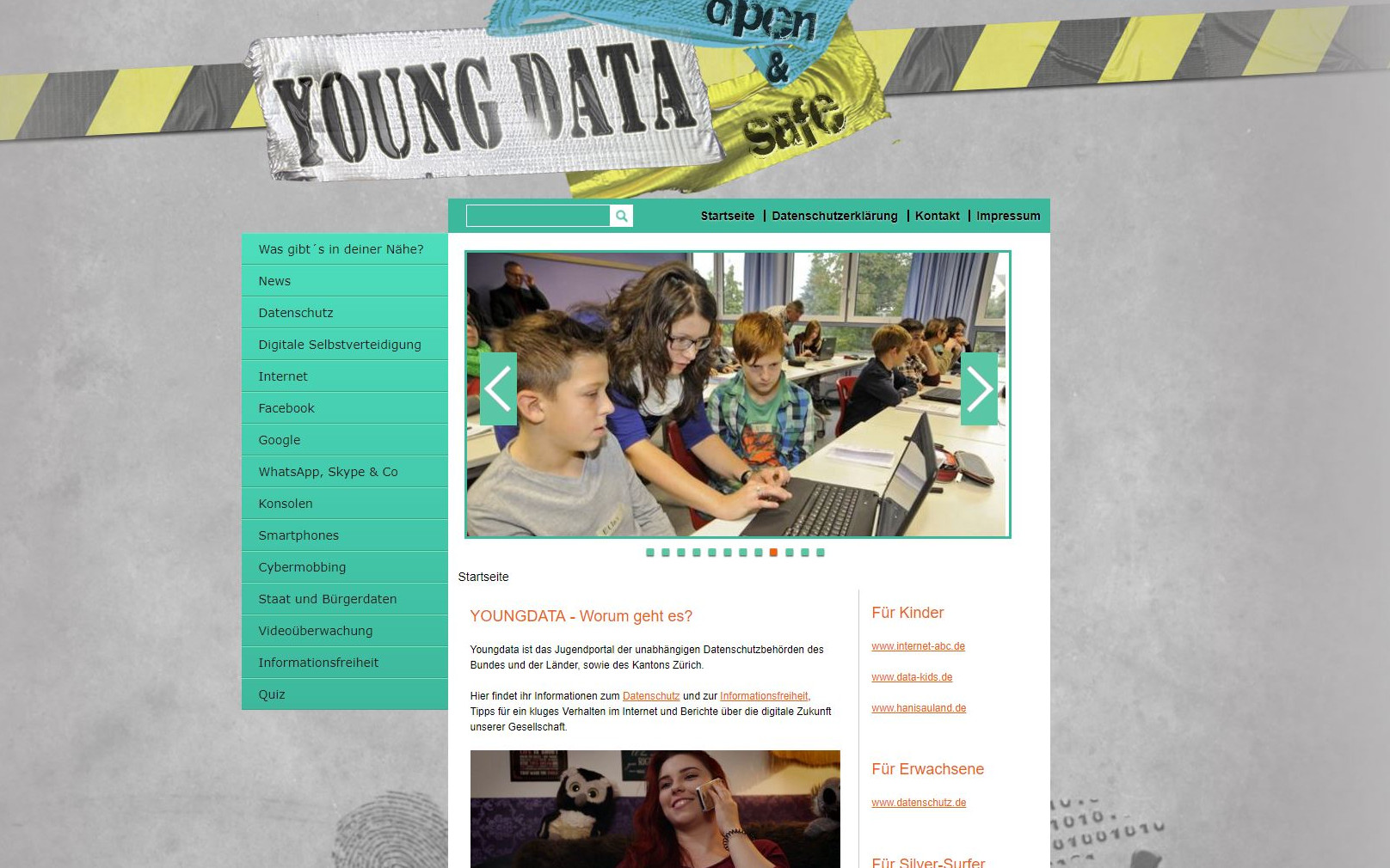 Webseite YoungData