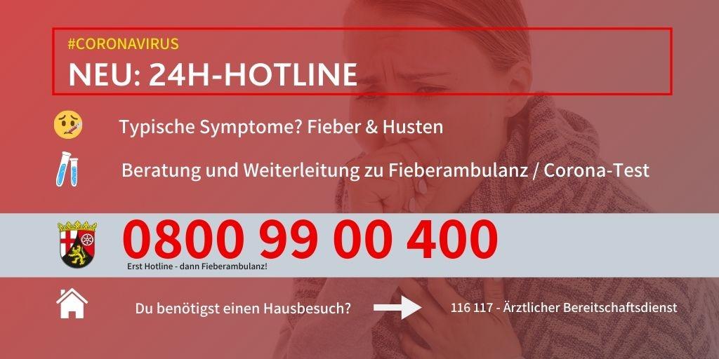 Neue Hotline für Personen mit Symptomen