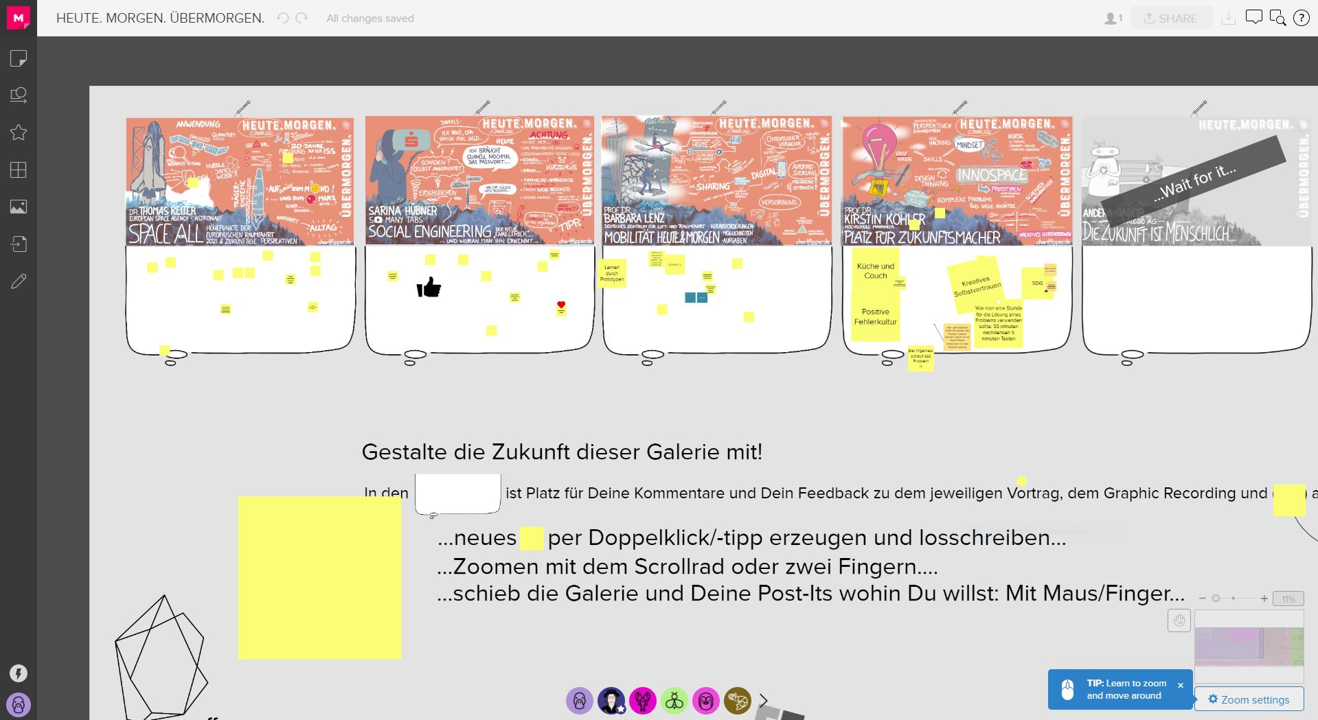 Screenshot eines Online-Zeichenboards