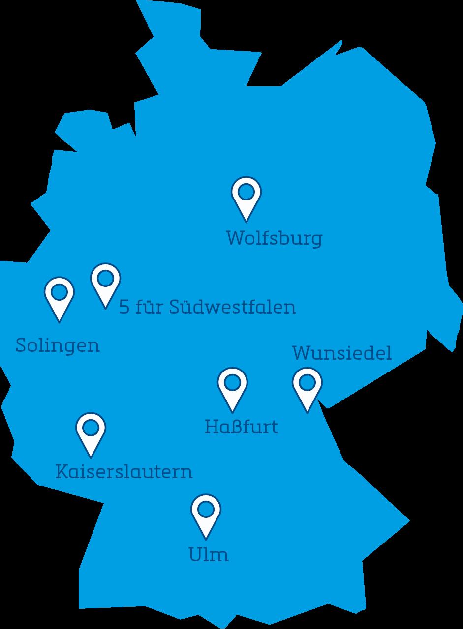 Deutschlandkarte Smart Cities